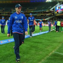 The familiar sight of England sneaking off the field after yet another humiliation