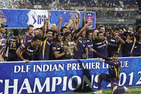 Kolkata Knight Riders celebrate victory in IPL 5