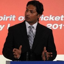 Kumar Sangakkara delivering the 2011 MCC Spirit of Cricket Cowdrey Lecture at Lord's