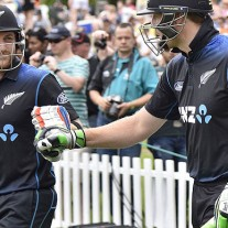 Brendon McCullum (L) and Martin Guptill have blazed a fearsome trail for New Zealand