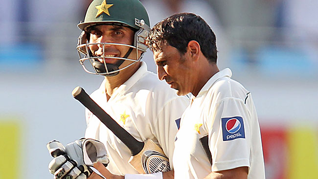 Misbah ul-Haq, left, and Younis Khan are the guardians of Pakistan's batting fortunes