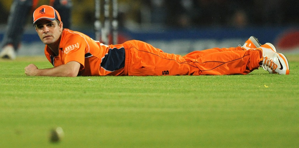Down and out: Peter Borren saw his Netherlands side crash out of the World T20 having played only one game - the associates are being gravely mistreated by the ICC