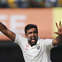 R Ashwin implores the umpires to grant him yet another wicket against New Zealand - he has 44 Test wickets to date in 2016.