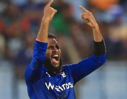 Adil Rashid celebrates another wicket in Bangladesh