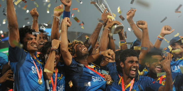 Sri Lanka celebrated their first World T20 triumph