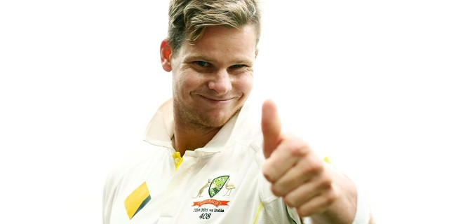 Steve Smith is the prized wicket in the Australian batting order at the moment. Here's a picture of him looking a bit of a dick.