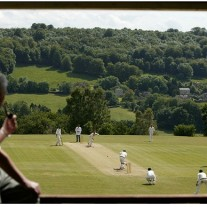 The romantic vision of village cricket - because it is always like this. Always.