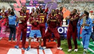 The West Indies players celebrated their World T20 success with vigour - a success crafted with no support from their own board