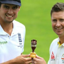 "Again and again and again... the captains pose with ""the famous little urn"" on a seemingly endless loop"