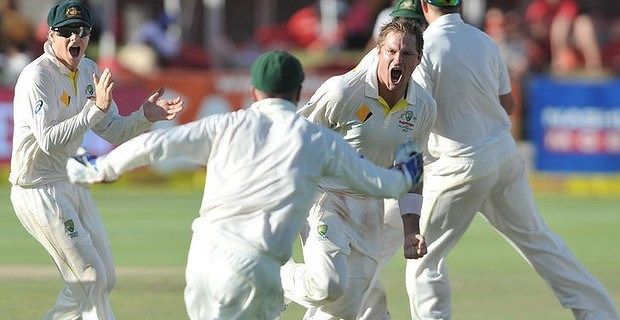 Ryan Harris bowled Morne Morkel in Cape Town to spark wild celebrations from Australia and make them the first side since 2012 to win a Test series away from home