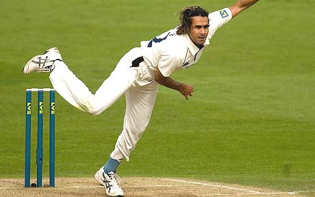 Imran Tahir has been in much demand on the County circuit. Here he is playing for... hang on. Hampshire? No. Warwickshire? Maybe.