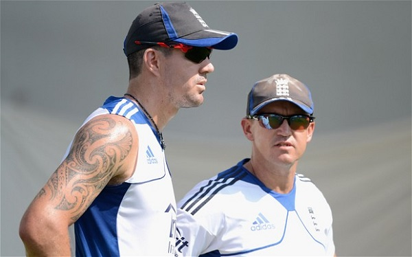 KP, left, and Andy Flower's relationship is, at best, strained