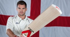 James Anderson is a fellow Slazenger V100 user, although he has scored more runs with his and will be hoping to score a few more runs Down Under with the 2014 version, pictured, this winter.